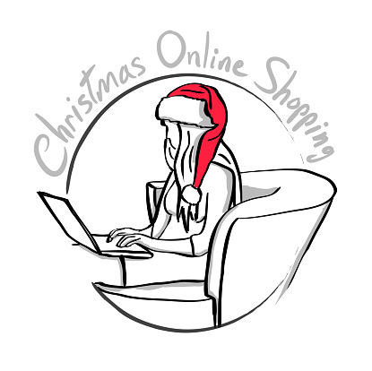 Christmas Online Shooping Icon