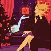Christmas online shopping.
