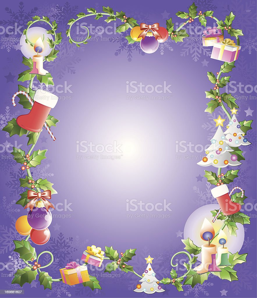 christmas or holidays frame royalty-free stock vector art