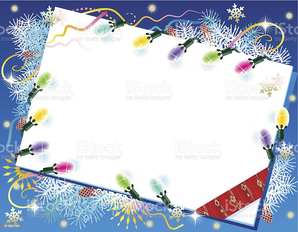 Christmas or New Year background with blank card royalty-free stock vector art