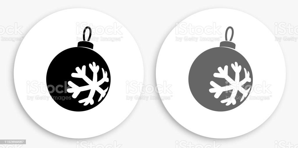 Ornement De Noël Noir Et Blanc Rond Icône Vecteurs Libres De