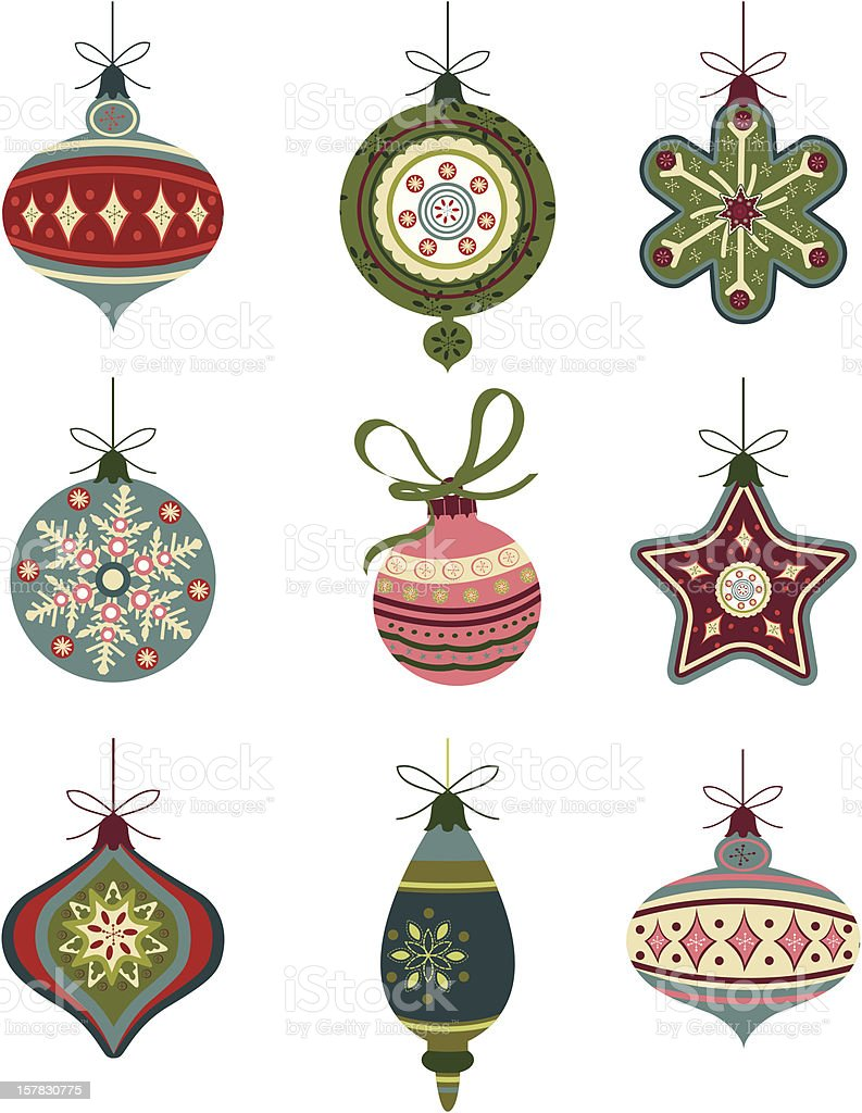 Christmas ornament collection royalty-free stock vector art