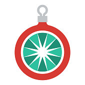 istock Christmas Ornament Icon on Transparent Background 1282909322
