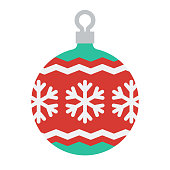 istock Christmas Ornament Icon on Transparent Background 1282909330