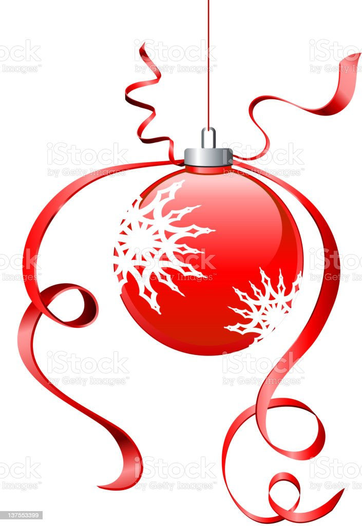 Christmas Ornament in red royalty-free stock vector art