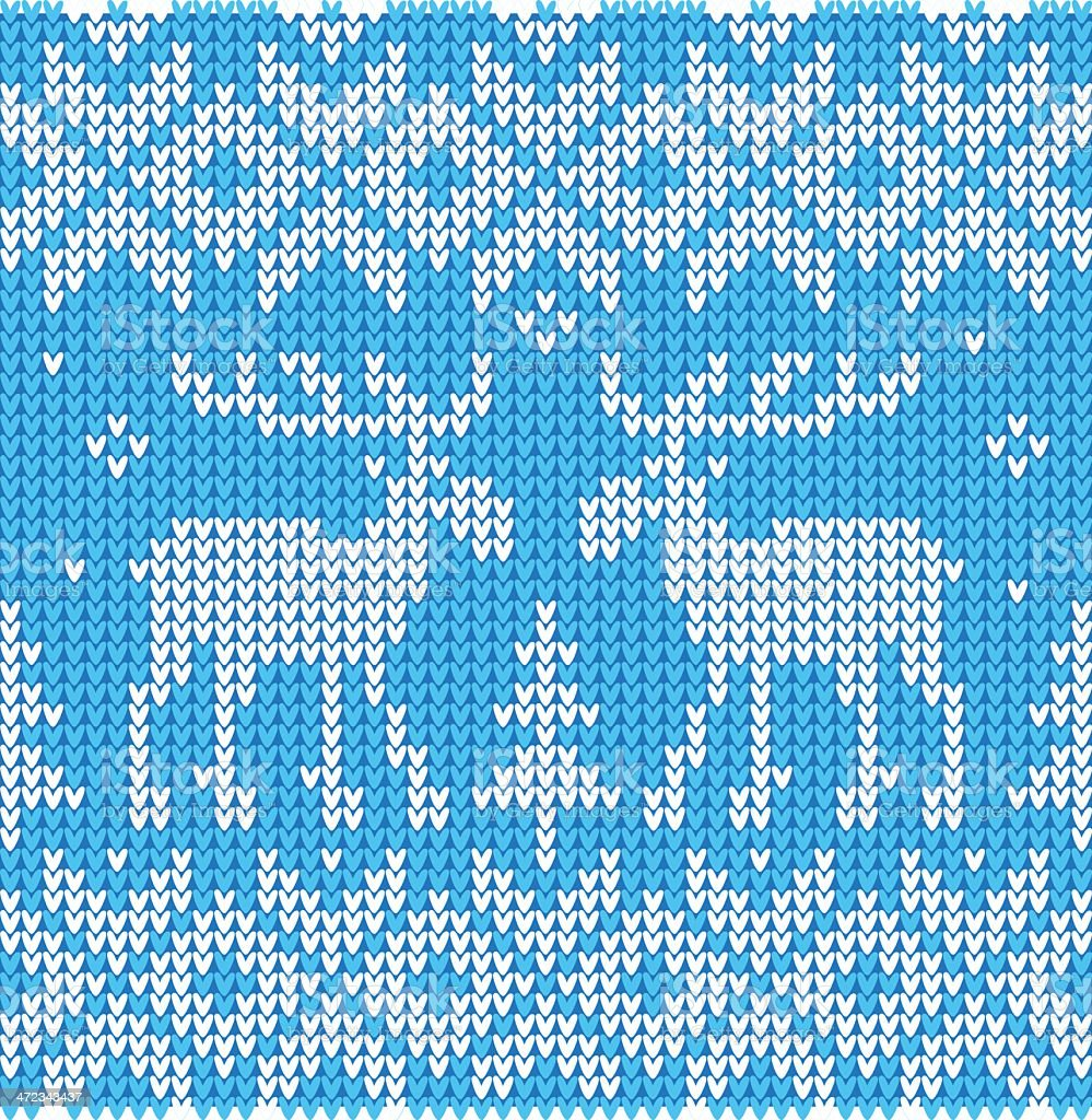 Christmas ornament: Sweater with deers royalty-free stock vector art