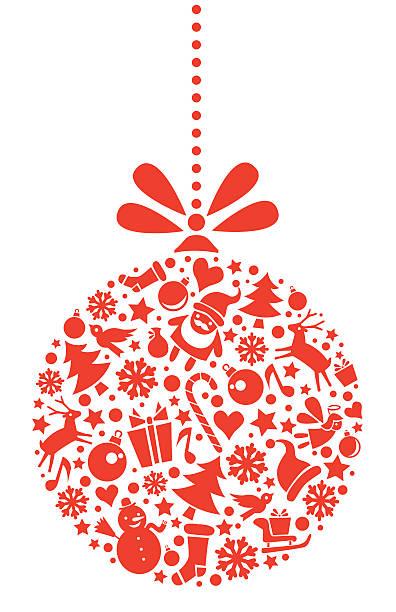 christbaumkugel - weihnachtsmarkt stock-grafiken, -clipart, -cartoons und -symbole