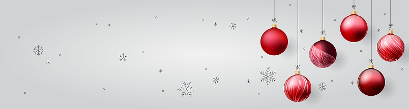 Pancarta de adornos de Navidad
