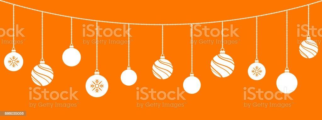 Weihnachtsschmuck. Weihnachtsdekorationen Kugeln. Hängenden Weihnachtsschmuck. – Vektorgrafik
