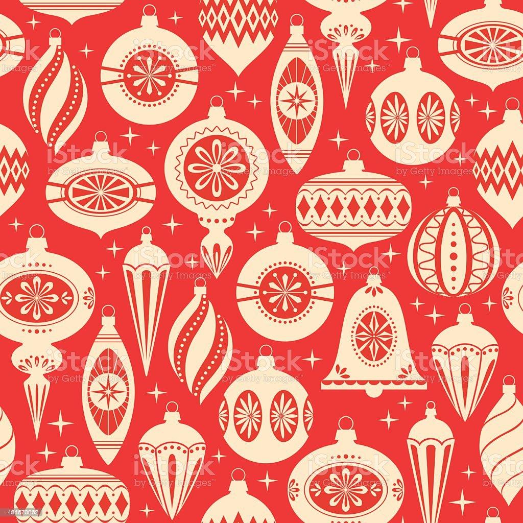 Patrón de Navidad ornamentos - ilustración de arte vectorial
