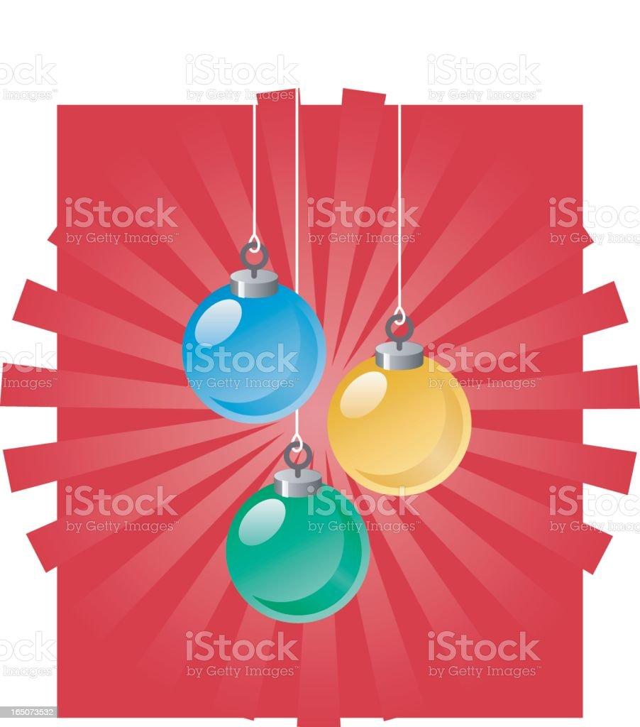 christmas ornaments royalty-free stock vector art