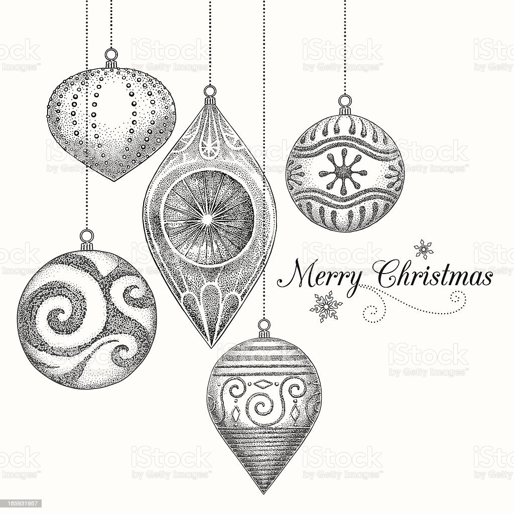 Christmas Ornaments royalty-free stock vector art
