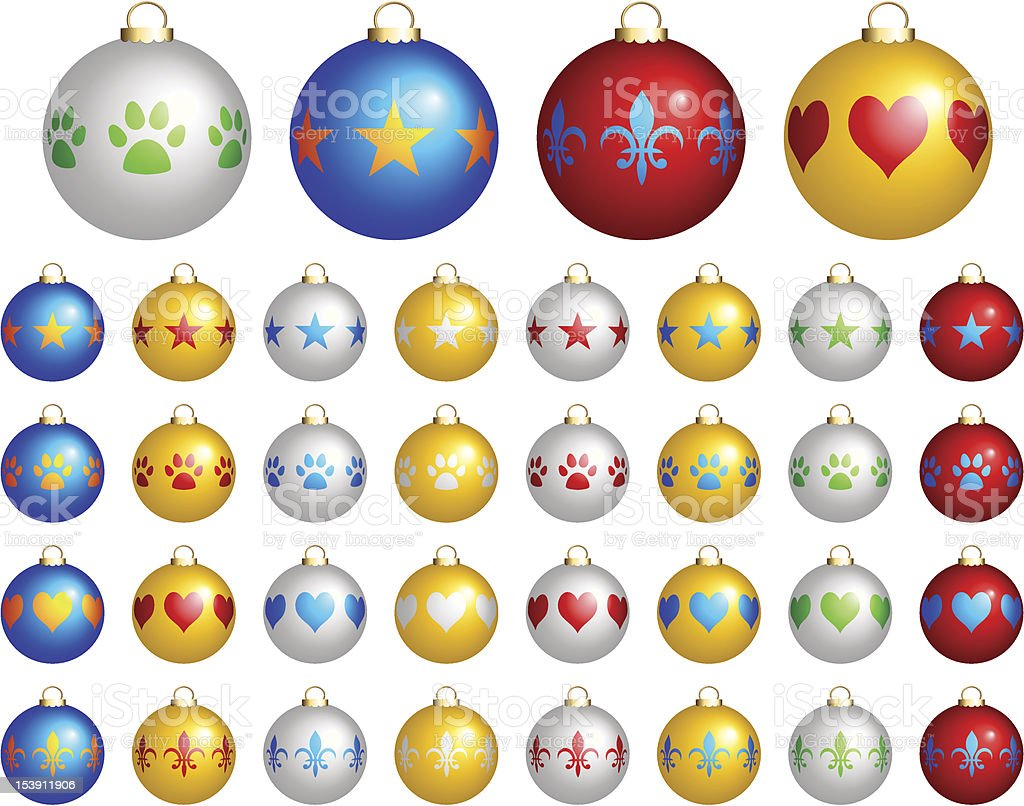 Christmas Ornaments Vector Illustration royalty-free stock vector art