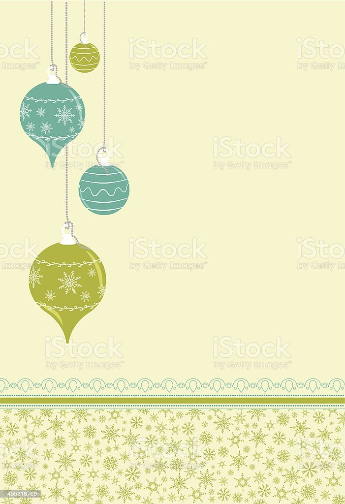 Christmas ornaments with snowflake pattern royalty-free stock vector art