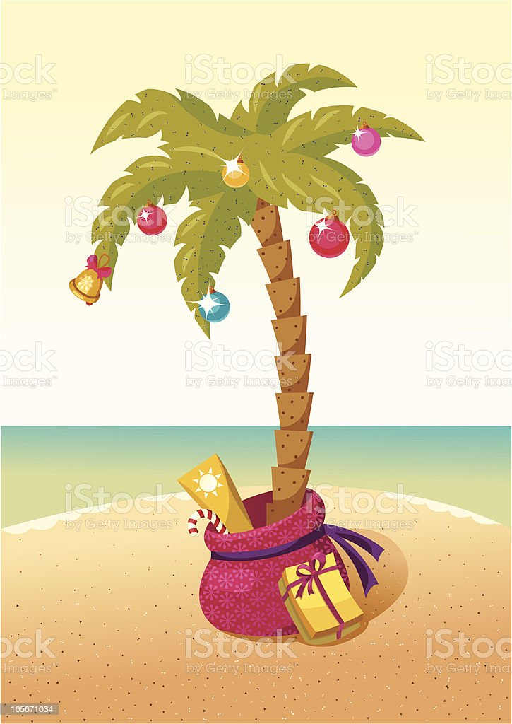 christmas palm tree royalty free stock vector art - Palm Christmas Tree