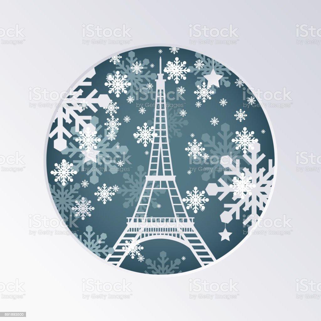 Weihnachten Scherenschnitt.Weihnachten Scherenschnitt Grußkarte Mit Eiffelturm In Paris Frankreich Stock Vektor Art Und Mehr Bilder Von Architektur