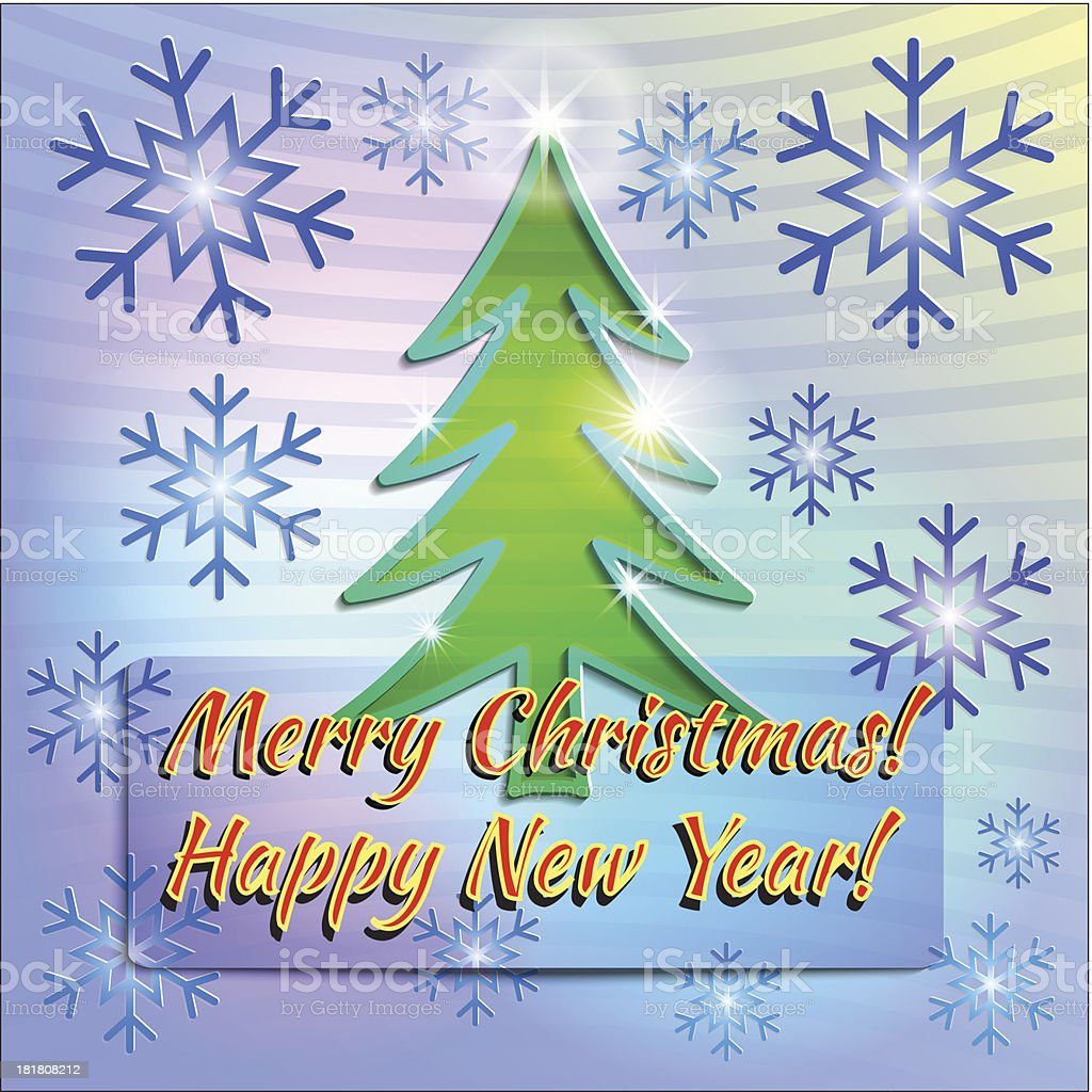 Christmas Paper Greeting Card Stock Vector Art & More Images of ...