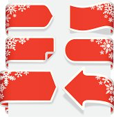 istock Christmas Paper Ribbon Banner label tags 481936703