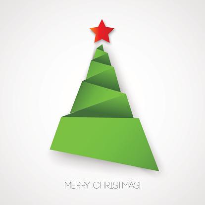 Weihnachtspapier Tree Stock Vektor Art und mehr Bilder von Abstrakt