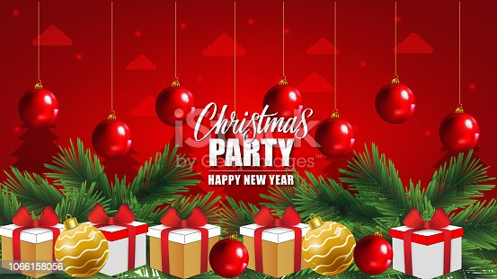 Christmas Party Background vector design