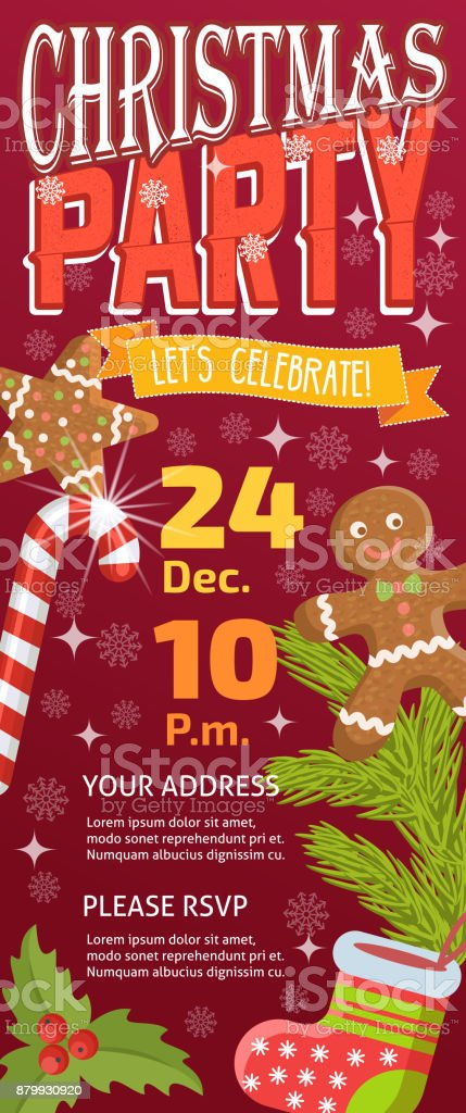 Ilustración de Navidad Fiesta Invintation Vector Tarjeta Fondo ...