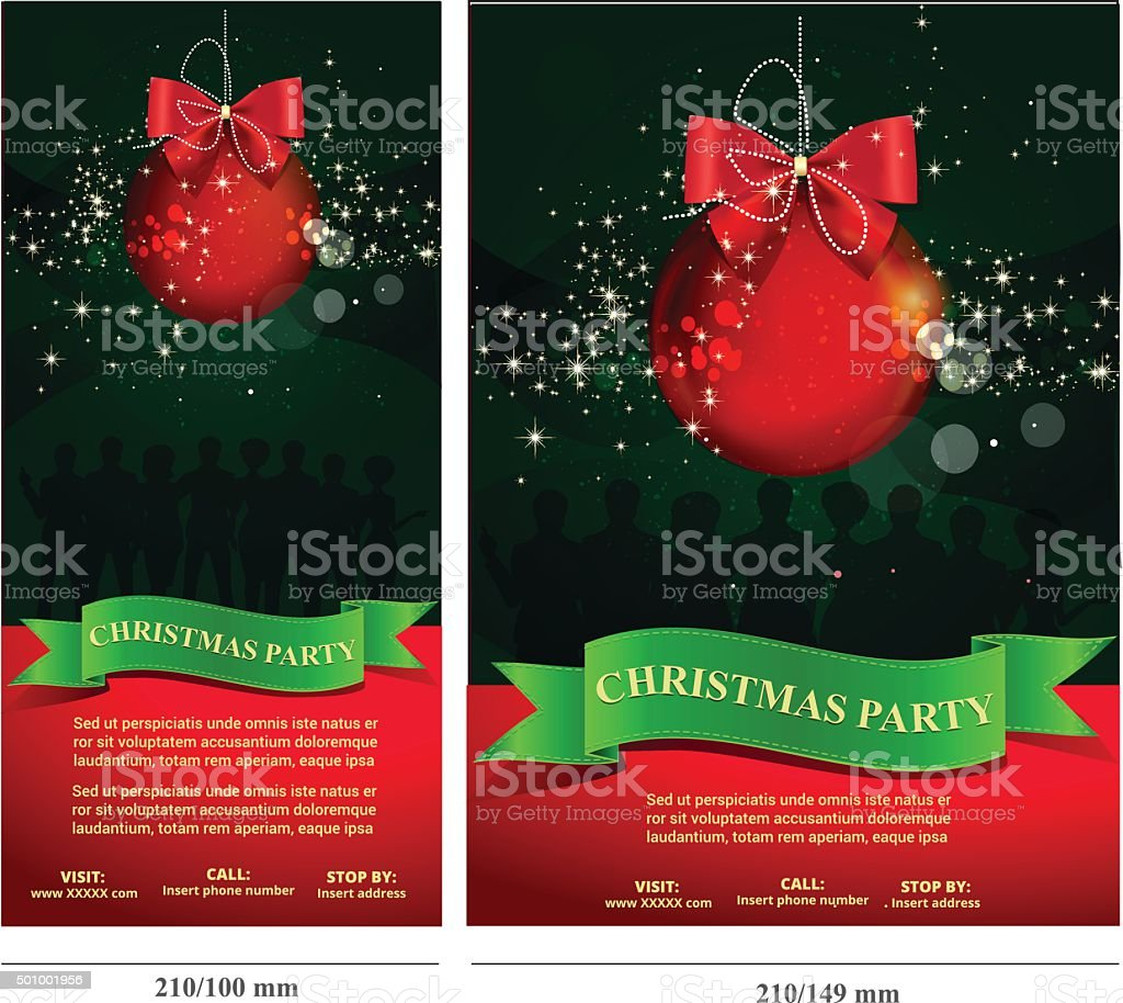 Christmas Party Invitation Card Flyer stock vector art 501001956 ...