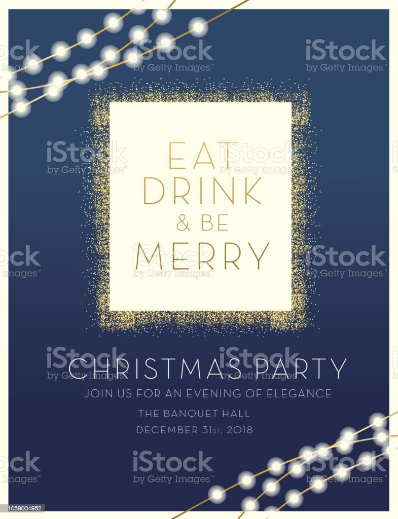 Christmas party invitation design template vector art illustration