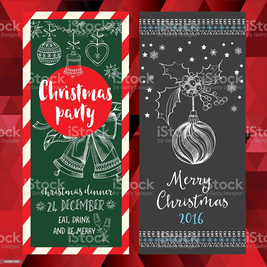 Christmas Party Invitation Holiday Card Stock Vector Art & More ...