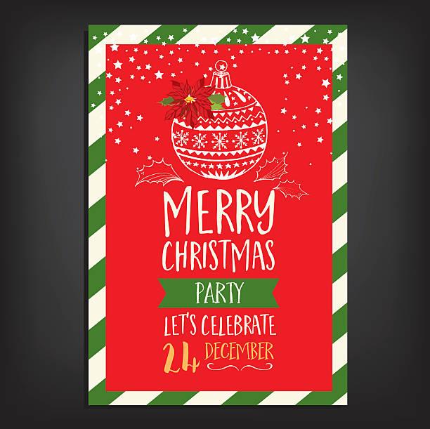 illustrazioni stock, clip art, cartoni animati e icone di tendenza di party di natale invito. carta vacanze. - christmas cooking