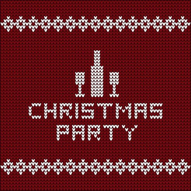Christmas party invitation illustration vector art illustration