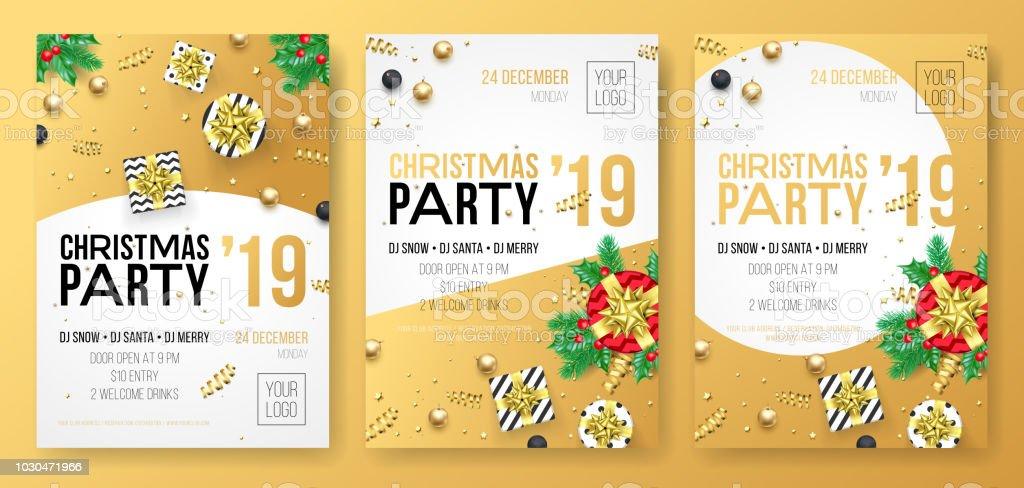 Ilustración De Navidad Fiesta Invitación Cartel O Tarjeta