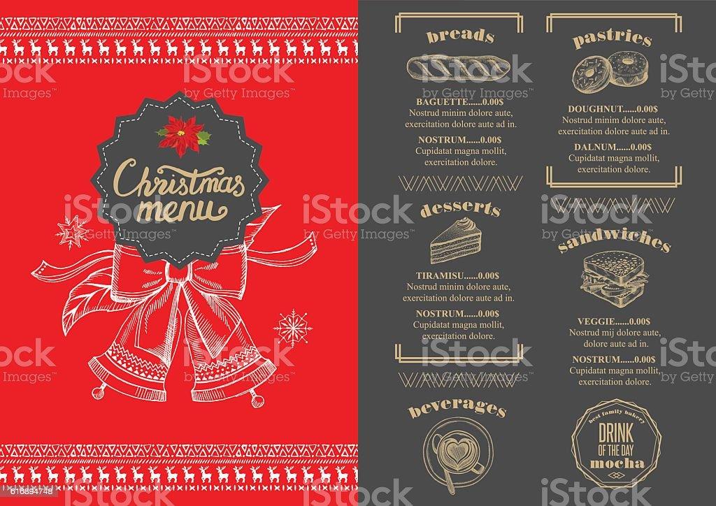 christmas party invitation restaurant food menu royalty free christmas party invitation restaurant food