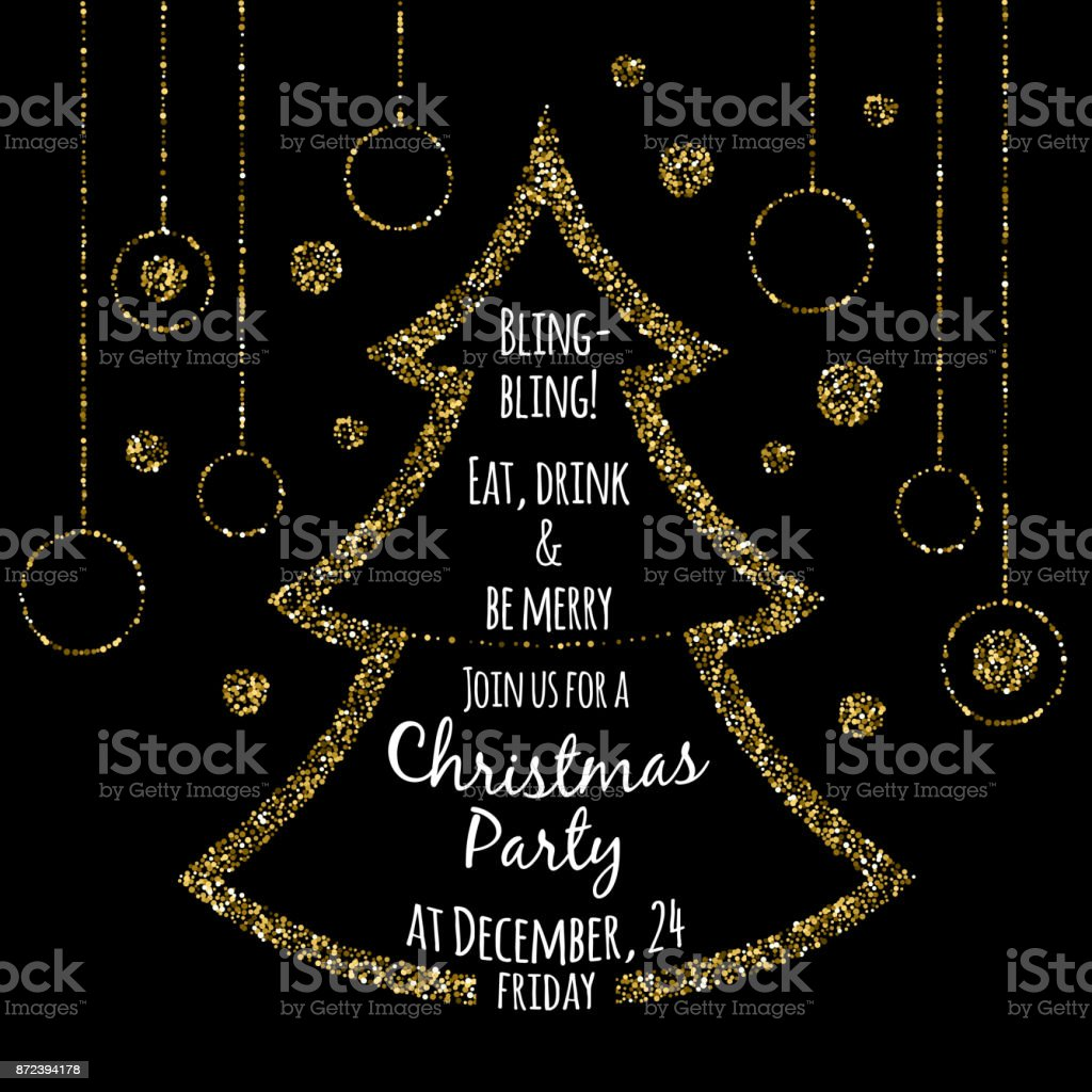 Christmas Party Invitation Template Stock Vector Art More Images