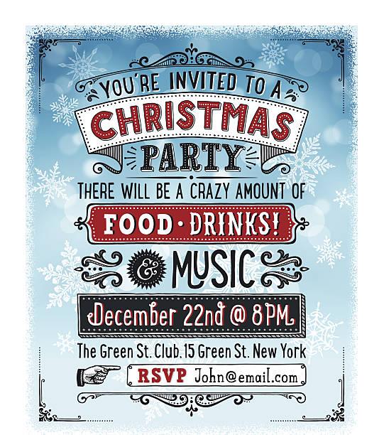 Christmas Party Invitation vector art illustration