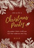 Christmas party invitation - Illustration