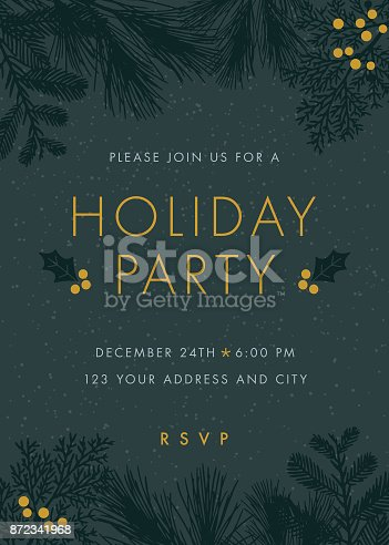 Christmas party invitation - Illustration