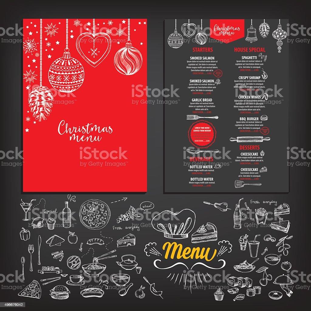クリスマスパーティーメニューのレストラン食事のマイレージプログラム