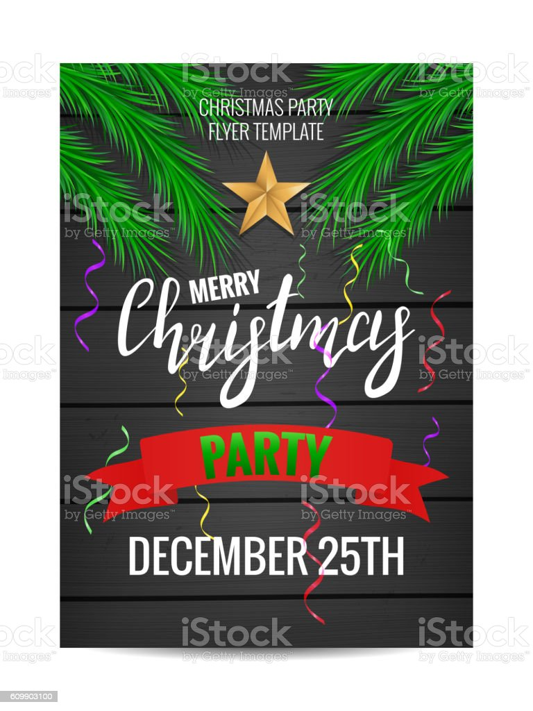 Christmas Party Poster.Christmas Party Poster Design Stock Illustration Download Image Now