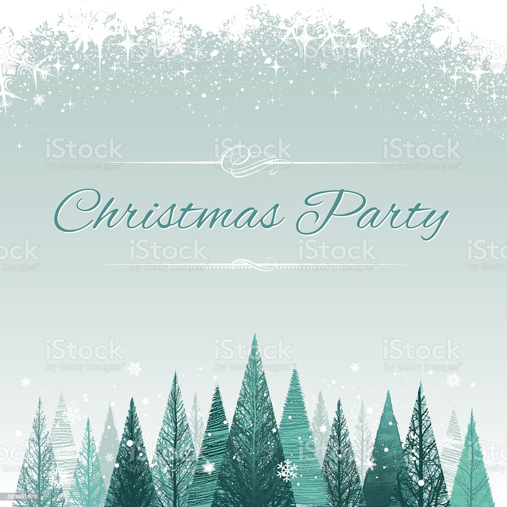 Christmas party poster vector art illustration