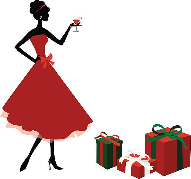 christmas party - heather mcgrath stock illustrations