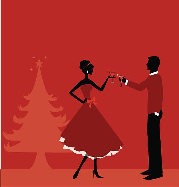 Christmas Party vector art illustration