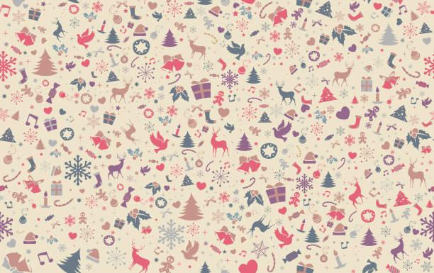 Christmas Pattern Background. Seamless. vector art illustration