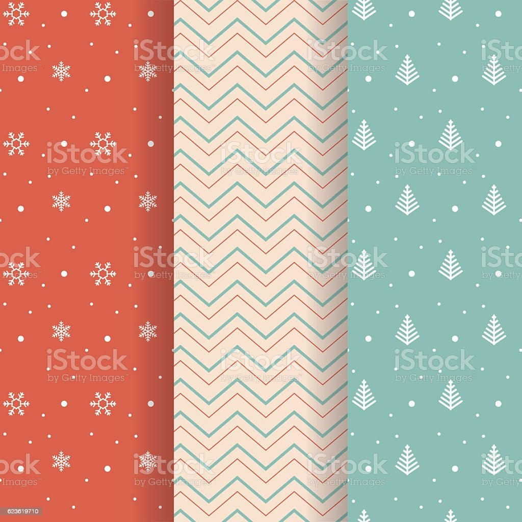 Christmas pattern collection vector art illustration