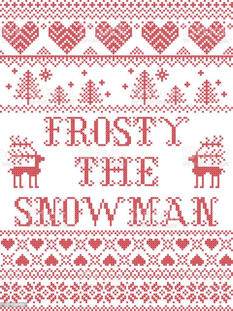 Weihnachten Muster Frosty Der Schneemann Vektor Nahtlose Muster