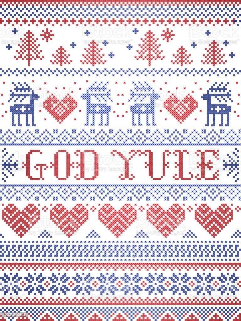 Frohe Weihnachten Norwegisch.Weihnachten Muster Frohe Weihnachten Im Norwegischen Gott Yule