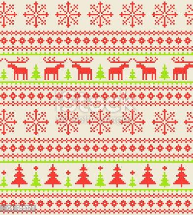 istock Christmas pattern 1041955372