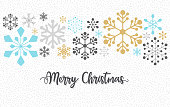 Christmas pattern, layered illustration with snowflakes. Global colors used. Easy to edit.