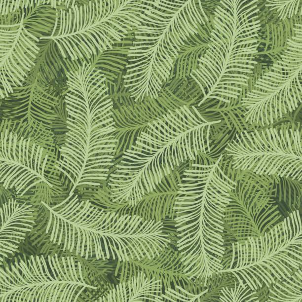 bildbanksillustrationer, clip art samt tecknat material och ikoner med jul mönster med gröna barr träd grenar - gran