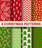 EPS10 file. It contains blending objects. Layered. grouped. 8 seamless patterns.