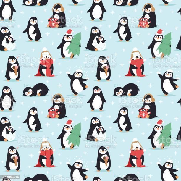 Christmas penguins seamless pattern vector vector id674356010?b=1&k=6&m=674356010&s=612x612&h=pordzqsmn9ozjoqeiqxehlxwcqruauinvwqt6tlrcqk=